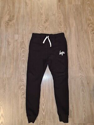 Hype boys black skinny joggers age 11-12 excellent condition.