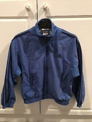 Kids Girls Unisex Adidas Jacket Blue 28/30 Casual Sporty