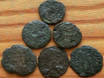 Lot of 6 Ancient Roman Imperial Bronze Coins AE Follis