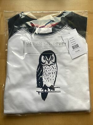 The Little White Company Boys Owl T Shirt 5-6 Years