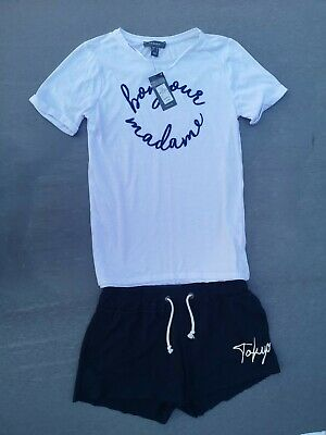 ; Ladies Short Tokyo Foundry Used And Primark Top New Size 10