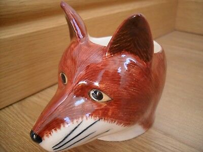 Quail Pottery Ceramic Fox Egg Cup   Great Gift Idea Boxed