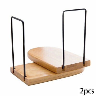 2xOrganizer Book Ends Office Home Portable Gift Bamboo Wood Floating Shelf