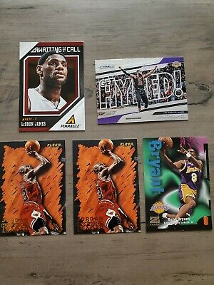 Lebron James/Kobe Bryant/Michael Jordan 5 Card Lot. Description For Card Details
