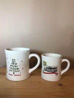 Pair (2) Waffle House 2012 Tuxton Restaurant Ware Coffee Mugs