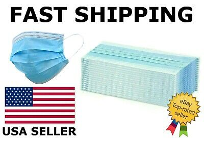 Blue Face Mask Mouth & Nose Protector Respirator Masks with Filter USA Seller