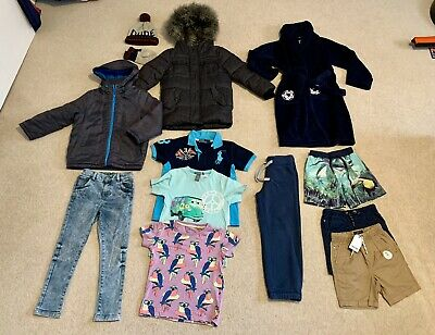 Boys Bundle 5-6 Years River Island Coat, Next Shorts Tshirt Jeans Summer Winter
