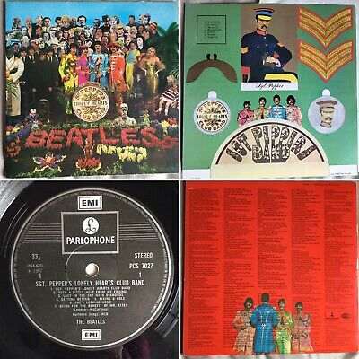 """The Beatles """"Sgt Peppers Lonely Hearts Club Band"""" Vinyl 12"""" Lp Pcs7027 Stereo"""