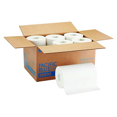 26610 SofPull Paper Towel Roll 1-Ply 9x400 White Pack of 6