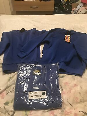 Childrens Blue School Sweatshirt Bundle Age 5-6 New (c)