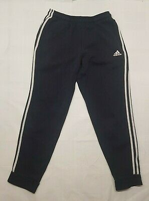 Adidas Trousers Adult Medium M Blue White Pants Gym Outdoors Running Cotton Mens