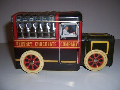 vintage 2000 Hershey's Milk truck tin , Hershey's vehicle series canister #1