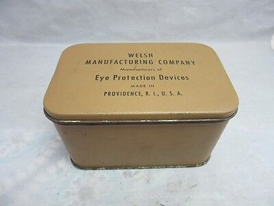 Welsh MFG Co. Eye Protection Devices tin, box. Providence, RI.