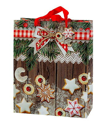 Moderno Pacchetto Regalo Natale Merry Christmas IN 4er Set 26x32x12cm