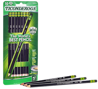 Pencils, Wood-Cased Graphite  HB Soft, Pre-Sharpened,Black,10-Pack.free shipping