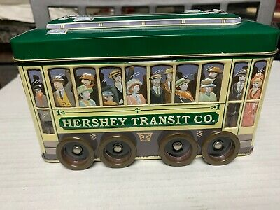 Hershey Chocolate Bus Tin Dispenser Trolley Car
