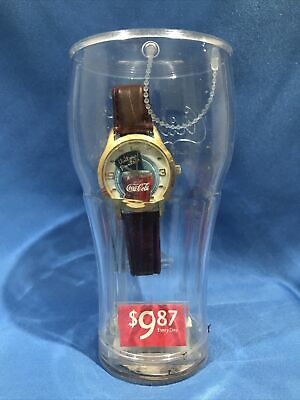 """2003 Coca-Cola Watch And Bank """"Visit Our Fountain"""" In Original Unopened Package"""