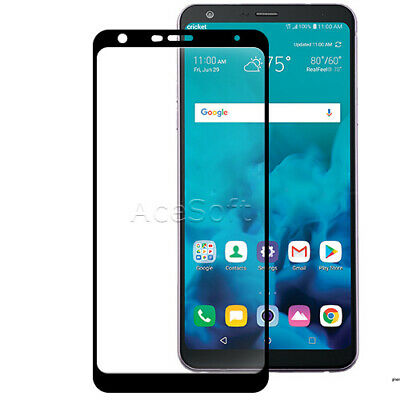 Full Coverage Tempered Glass Film Screen Protector f LG Stylo 4 Q710MS CellPhone