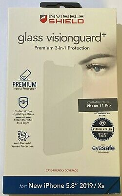 NEW ZAGG Anti-Bacterial Invisibleshield Glass Visionguard+ for iPhone 11 Pro