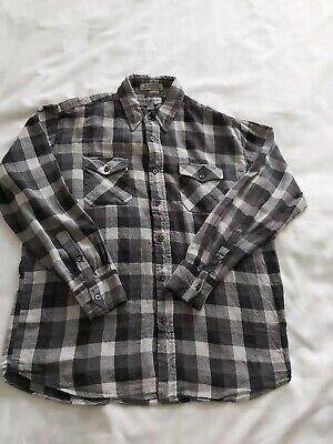 Beverley Hills Polo Club Black Check Cotton Shirt Size Large Ralph Lauren