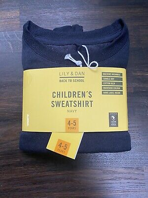 Navy Blue School Sweatshirt Age 4-5 Brand New