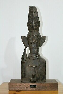 Indonesian Tribal Art  Nias Well Patinated  Adu Zatua Ancestral Figure