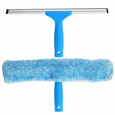 MR.SIGA Professional Window Cleaning Combo - Squeegee & Microfiber Window Scrubb