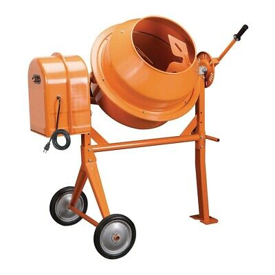 Portable Cement Mixer 3-1/2 Cubic Ft. Electric Power For Mixing Stucco Concrete