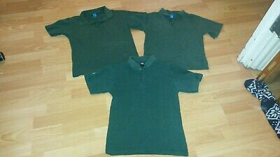 3 x Adams green polo shirts | age 10