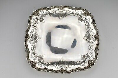 Sterling Silver Fancy Footed Tray 25.56 Troy Ounces Shreve Crump & Low Co.