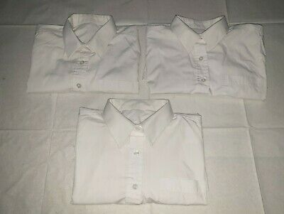 Bundle Of 3 Kids White School Shirts Age 14