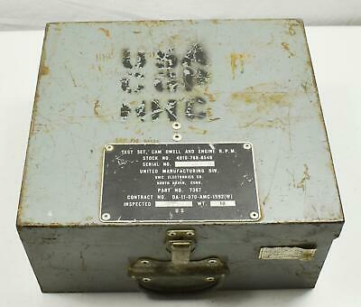 United Mfg Company - Test Set, Can Dwell, Engine RPM Type I