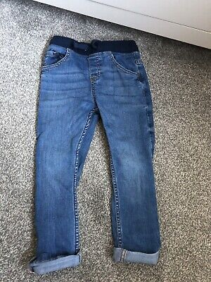 TU Boys blue Jeans 3-4 years with jogger style waist