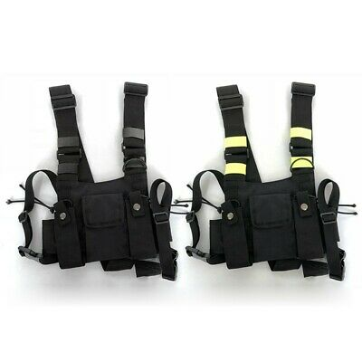 Vest Bag Outdoor Pouch Sport Holster Rig Pocket Radio Chest Harness Front Oxford