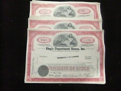 King's Department Stores Inc A Lot Of 100 1960'S