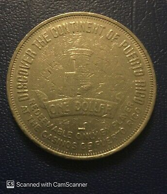 1996 Casino Token Puerto Rico Does It Better, One Dollar