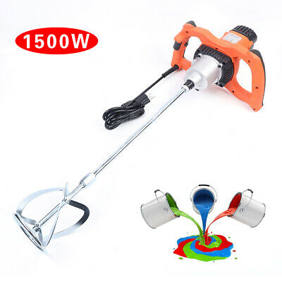 Portable Handheld Electric Cement Mixer Mixing Mortar 6 Speed 1500W USA STOCK