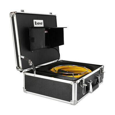 """7"""" 65ft Drain Endoscope Cleaner φ23mm IP68 Industrial Sewer Camera Video DVR 8GB"""