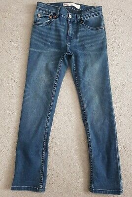 Boys Levi's 501 Skinny Blue Jeans Size Age 8 Only worn once