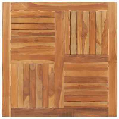 vidaXL Solid Teak Wood Table Top Square 90cm Wooden Replacement Dining Tops