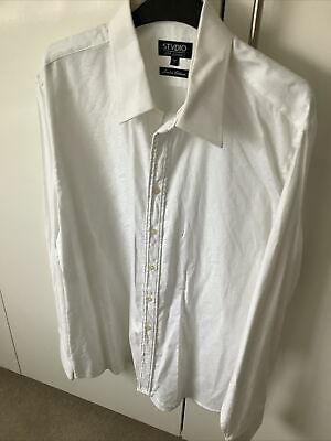 Jeff Banks 17 Inch Collar  White Shirt Worn Once