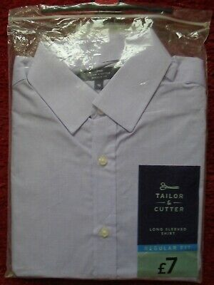BN Tailor & Cutter mans long sleeved shirt size 16 regular fit