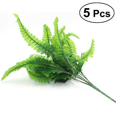 Decorative Lifelike Plant Green Plant with 7 Branches Leaves for Home