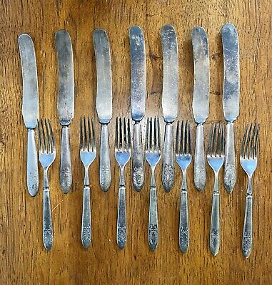 5 Butter Knives Antique Butter Knives Rockford Silver Plate Co Fair Oaks Pattern 1909 Silver Plated Five