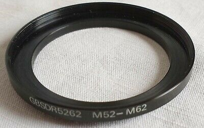 52mm to 62mm step-up ring