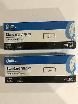 """Quill 791123 Standard Staples 10,000 Count - 1/4"""" Size"""