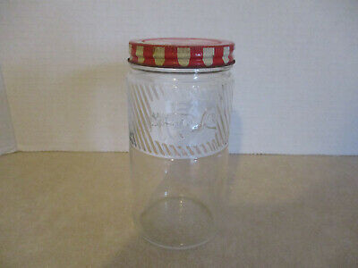 "Jumbo Brand Peanut Butter 5"" Jar with Embossed Elephant & Original Lid"