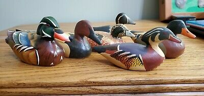 Collectable Ducks    NICE COLORFUL GROUP  MADE FROM WOOD