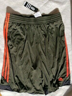 Adidas Men's 3 Strips 3G Speed Shorts Black with Red Stripes,  XLarge