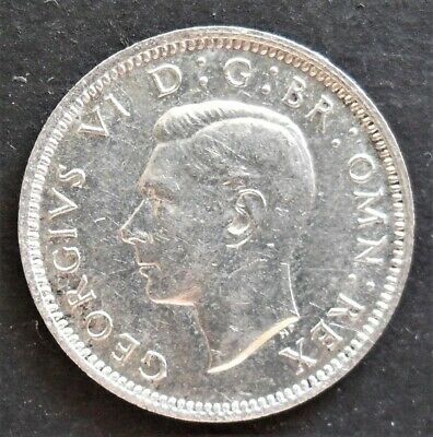 1942  Great Britain Sixpence ,  unc. , nice silver coin        # 914
